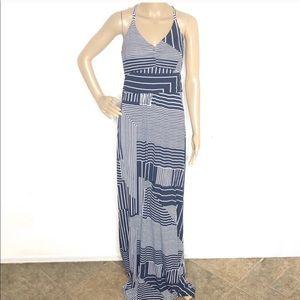 Banana Republic Navi Striped Maxi Dress